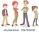 colorful happy people. cartoon... | Shutterstock .eps vector #536763430