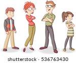colorful happy people. cartoon... | Shutterstock .eps vector #536763430