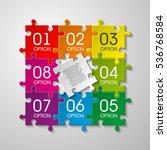 puzzle piece business... | Shutterstock .eps vector #536768584