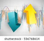 abstract business chart with...