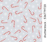christmas seamless pattern with ... | Shutterstock . vector #536779720