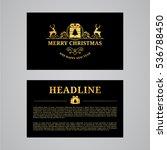 christmas greeting card design. ... | Shutterstock .eps vector #536788450