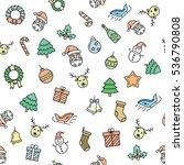 christmas seamless vector... | Shutterstock .eps vector #536790808