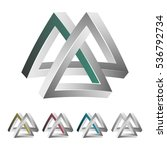 impossible triangle. white... | Shutterstock .eps vector #536792734