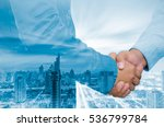 double exposure of businessman... | Shutterstock . vector #536799784