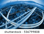 city scape and transportation... | Shutterstock . vector #536799808