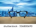 clear cityscape focused in... | Shutterstock . vector #536800690
