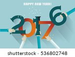 happy new year 2017 creative... | Shutterstock .eps vector #536802748
