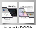 business templates for brochure ... | Shutterstock .eps vector #536805034