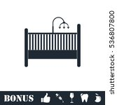 baby crib icon flat. simple... | Shutterstock . vector #536807800