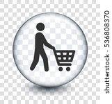 male shopper on transparent... | Shutterstock .eps vector #536808370