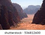 wadi rum  jordan | Shutterstock . vector #536812600