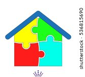 house  puzzle  icon  vector... | Shutterstock .eps vector #536815690