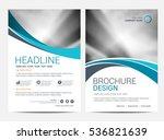 brochure template flyer... | Shutterstock .eps vector #536821639