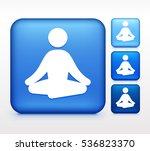 yoga colorful square button | Shutterstock .eps vector #536823370