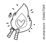 cartoon funny freehand bright...   Shutterstock .eps vector #536827069