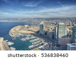 Aerial view of beirut lebanon ...