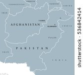 afghanistan and pakistan... | Shutterstock .eps vector #536842414