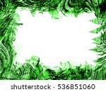 ornament abstract green weave ... | Shutterstock . vector #536851060