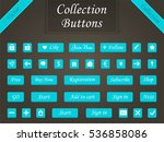 set of modern buttons for... | Shutterstock . vector #536858086