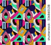 geometric pop art pattern.... | Shutterstock .eps vector #536860138