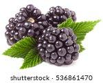 Three Blackberry With Leaf...