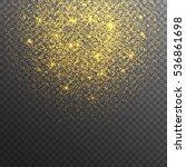 gold glitter sparkles on... | Shutterstock .eps vector #536861698
