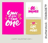 set of valentine's day greeting ... | Shutterstock .eps vector #536863879