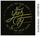 cool awesome slogans typography ... | Shutterstock .eps vector #536870836