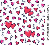 doodles cute romantic seamless... | Shutterstock .eps vector #536872978