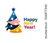 christmas geometric banner ... | Shutterstock . vector #536877340