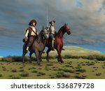 3d illustration of don quixote... | Shutterstock . vector #536879728