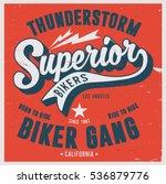 vintage biker graphics and... | Shutterstock .eps vector #536879776