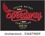vintage biker graphics and... | Shutterstock .eps vector #536879809