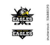 eagle mascot for a hockey team. ... | Shutterstock .eps vector #536880193