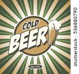Retro Beer Poster Vector Desig...