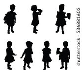 child silhouette cute set in... | Shutterstock .eps vector #536881603