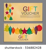 gift voucher template for... | Shutterstock .eps vector #536882428