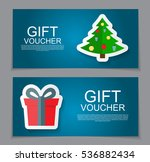 gift voucher template for... | Shutterstock .eps vector #536882434