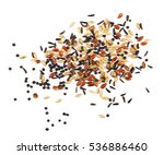 mixed bird seed isolated on... | Shutterstock . vector #536886460