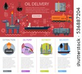 oil industry infographics with... | Shutterstock .eps vector #536887204