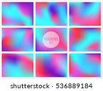 blur vivid backgrounds set.... | Shutterstock .eps vector #536889184