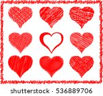 vector hearts | Shutterstock .eps vector #536889706