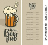 menu with price list for a pub... | Shutterstock .eps vector #536895814