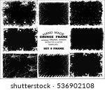 grunge frame set. vector... | Shutterstock .eps vector #536902108