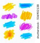 highlighter marker strokes.... | Shutterstock .eps vector #536902138