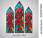 Floral Stained Glass Decorativ...