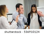 sad and depressed business man... | Shutterstock . vector #536910124