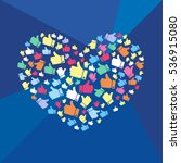 vector stylized heart of the... | Shutterstock .eps vector #536915080