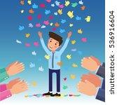 vector concept applause winner... | Shutterstock .eps vector #536916604